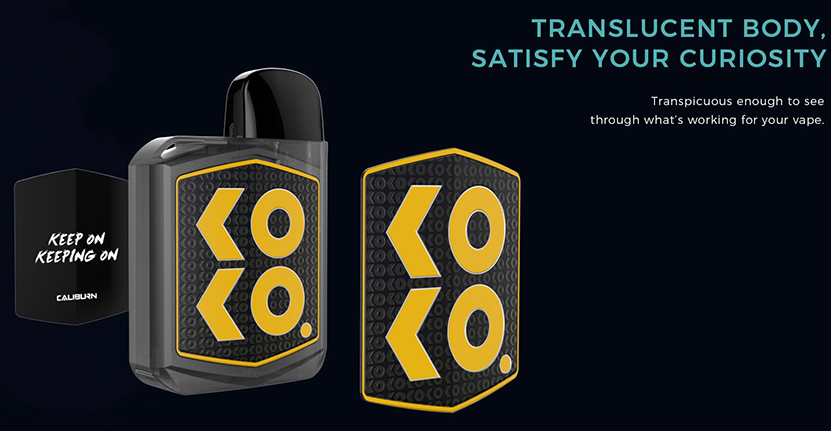 Caliburn KOKO Prime Vision Pod Kit Translucent Body