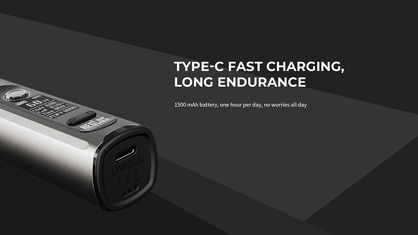 Uwell Aeglos H2 Type-C Fast Charging
