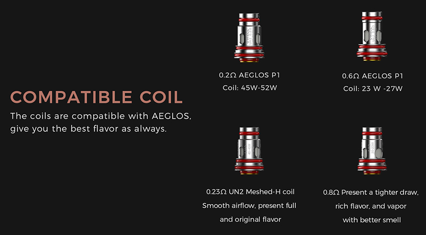 Uwell Aeglos P1 Pod Mod Kit Compatible with Aeglos Coil