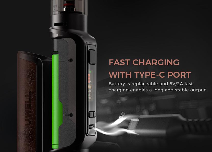 Uwell Aeglos P1 Pod Mod Kit Fast Charging