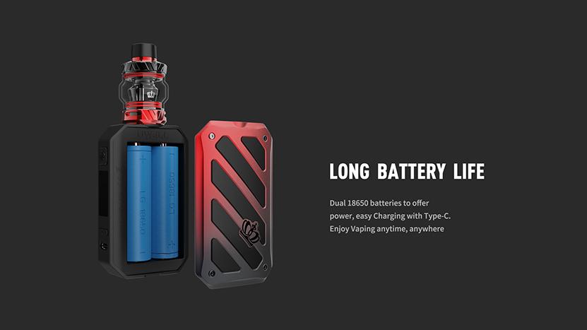 Uwell_Crown_V_Kit_Battery_Capacity