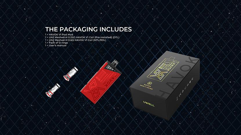 Uwell Havok V1 Kit Package
