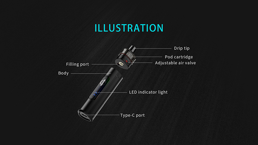 Uwell Whirl T1 Kit Feature 6