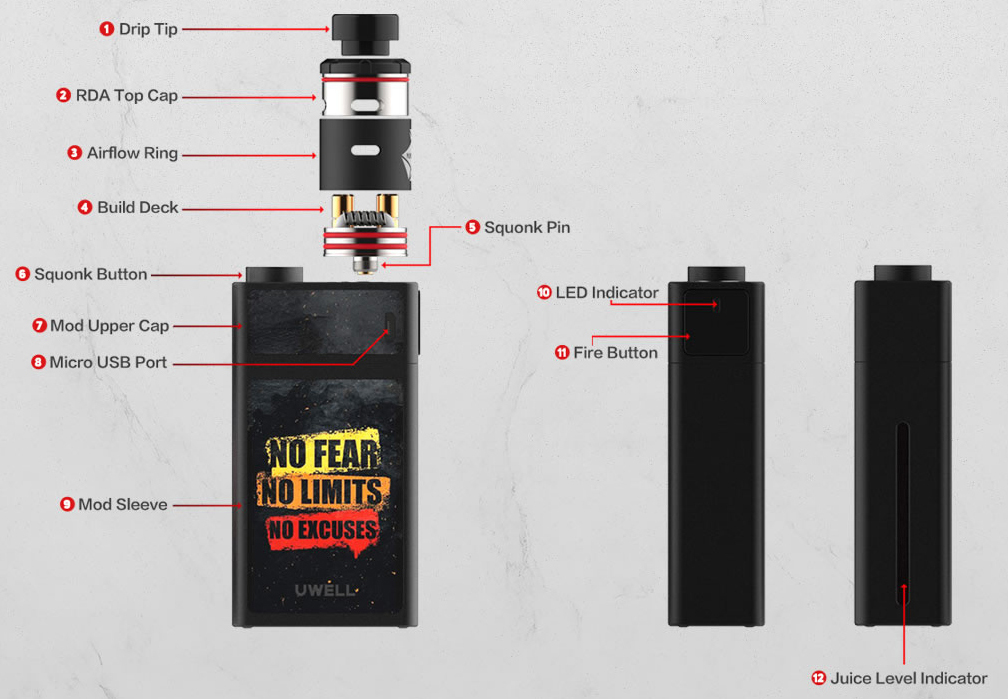 Uwell Blocks Squonk Kit Features 01