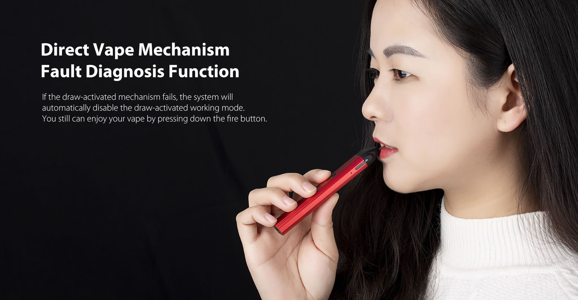 Uwell Caliburn Portable Pod System Direct Vape Mechanism