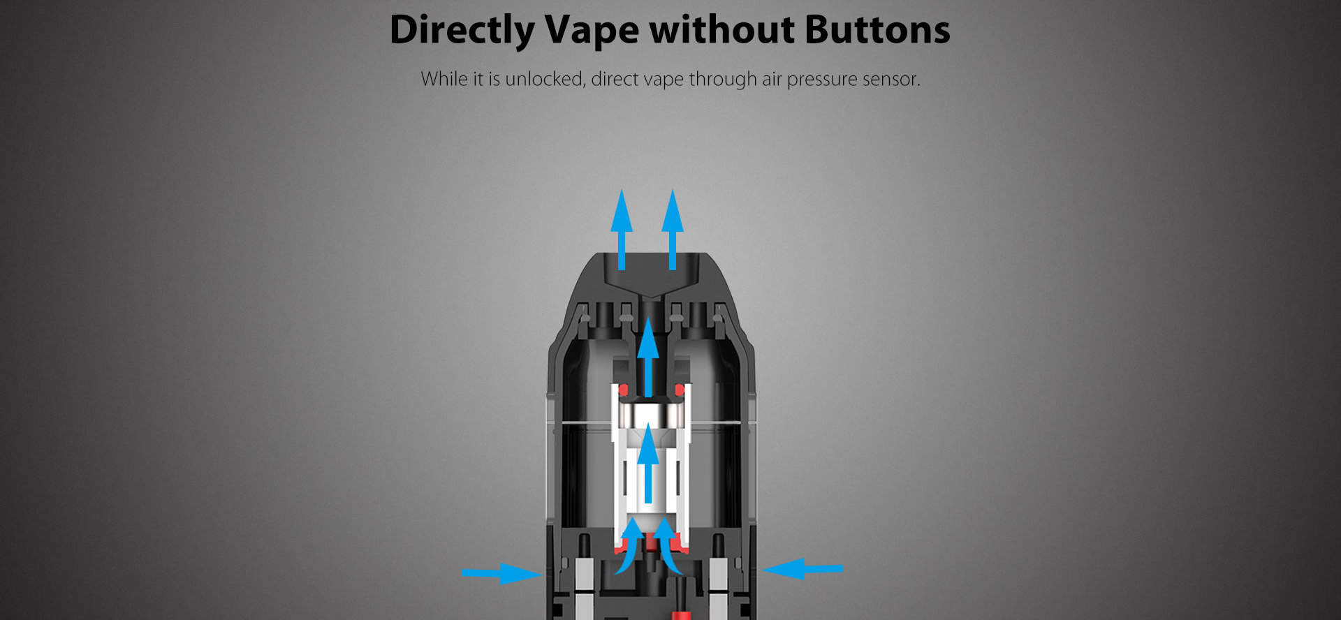 Uwell Caliburn Pod Without Buttons