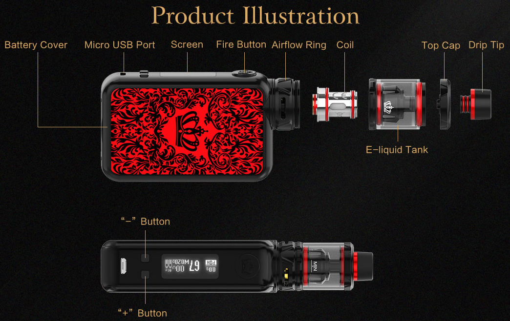 Uwell Crown 4 Vape Kit Features 1