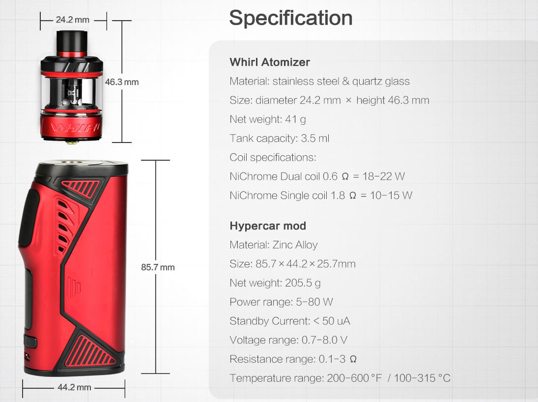 Uwell Hypercar Kit with Whirl Tank