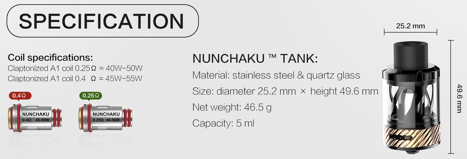Nunchaku Subohm Vape Tank