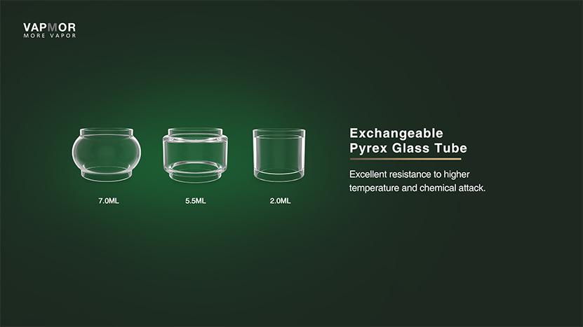 VAPMOR V-Tank Replacement Glass Tube Exchangeable Glass Tube