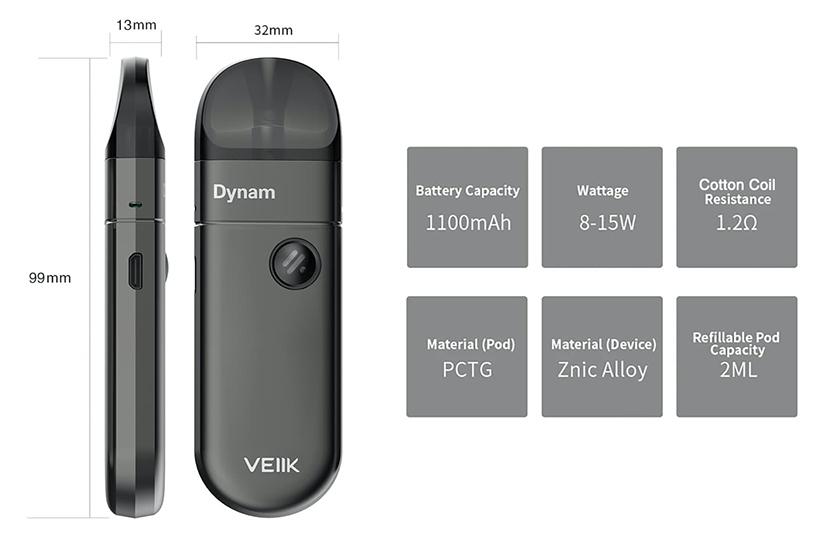 ميزة VEIIK Dynam Pod Kit 9