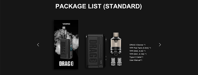 DRAG3 Kit package