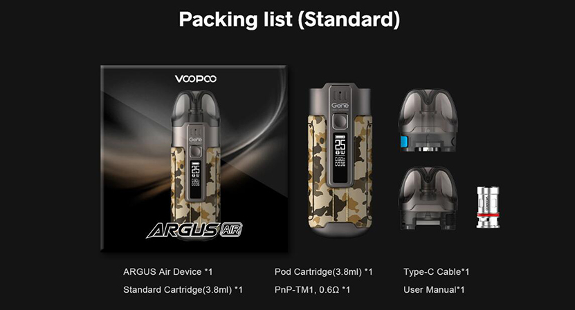 VOOPOO Argus Air Kit Feature Content