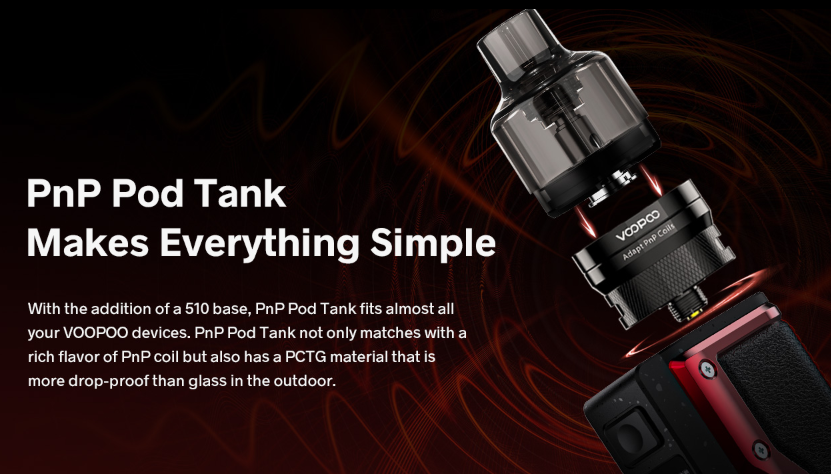 VOOPOO Argus GT Box Mod Kit PnP Pod Tank