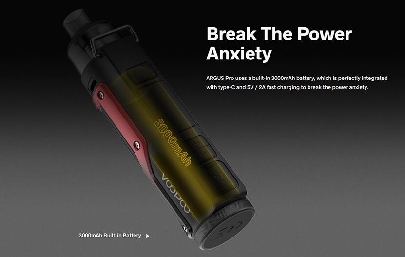 VOOPOO Argus Pro Pod Kit Battery