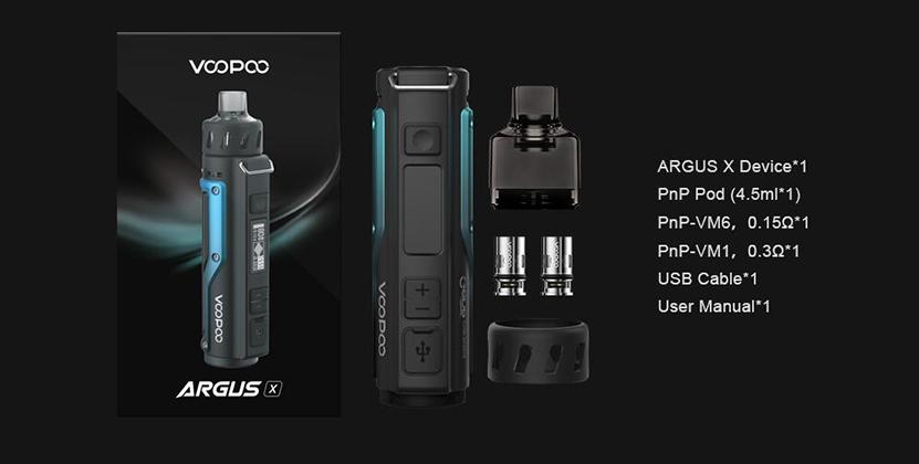 VOOPOO Argus X Kit Package
