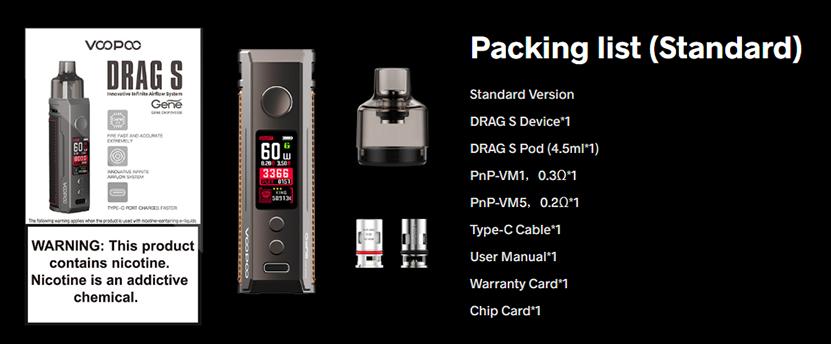 VOOPOO DRAG S Kit Package