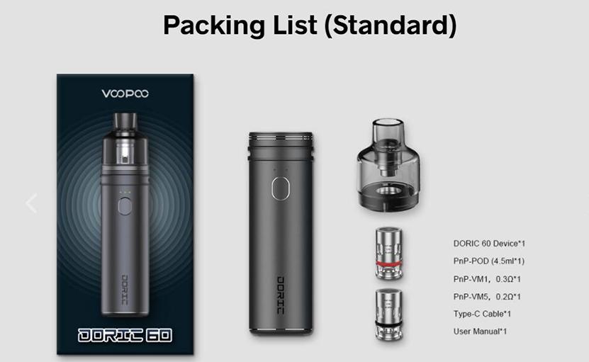 VOOPOO Doric 60 Kit Package