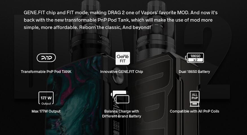 VOOPOO Drag 2 Kit Refresh Edition Feature 8