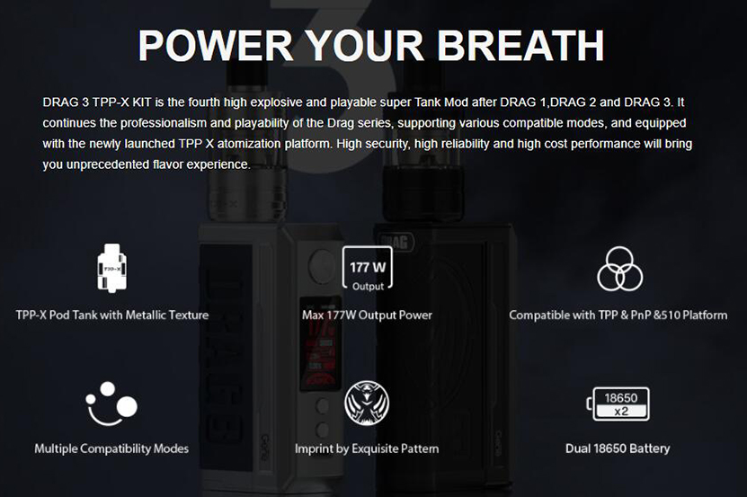 VOOPOO Drag 3 TPP-X Kit Feature 5