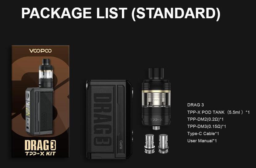 VOOPOO Drag 3 TPP-X Kit Package