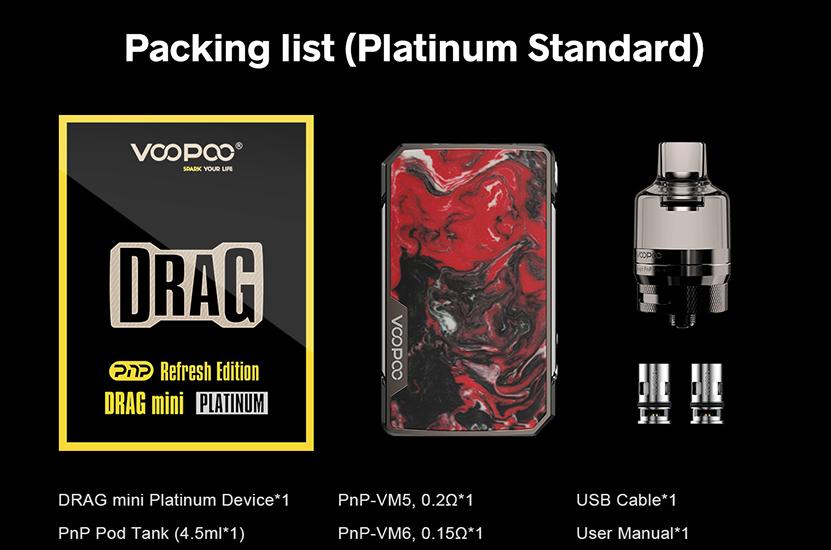 VOOPOO Drag Mini Platinum Refresh Kit Package