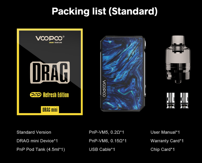 VOOPOO Drag Mini Refresh Edition Starter Kit Package