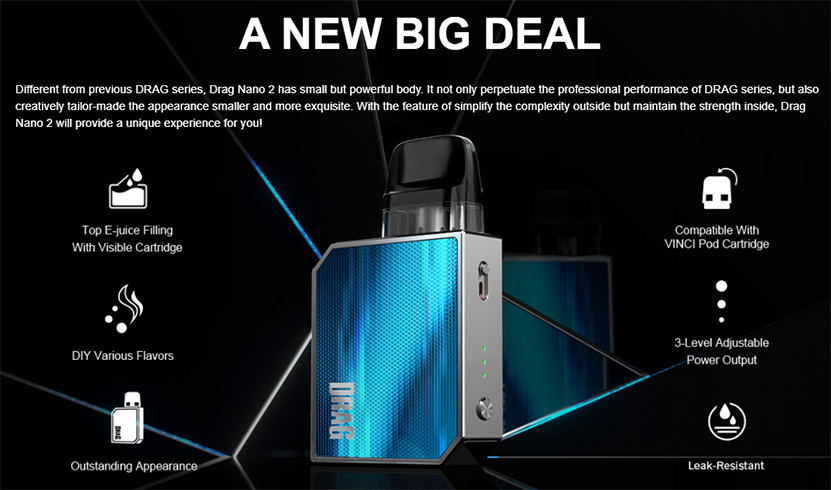 VOOPOO Drag Nano 2 Kit Features