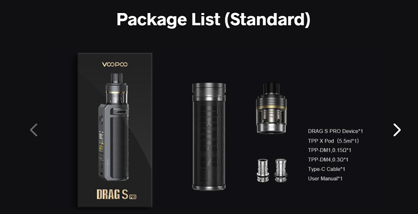 VOOPOO Drag S Pro Kit Feature Package