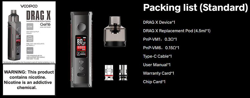 VOOPOO Drag X Kit Feature Package