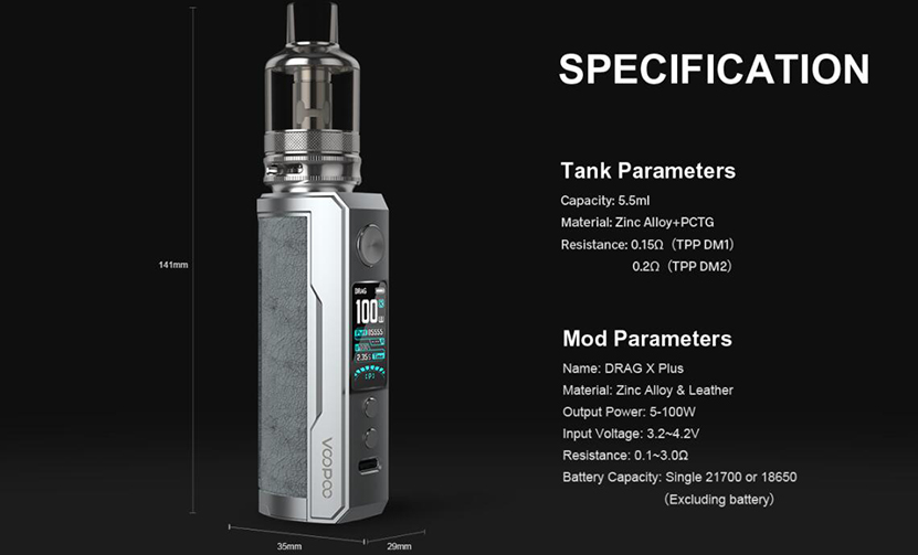 VOOPOO Drag X Plus Professional Edition Kit Feature 11