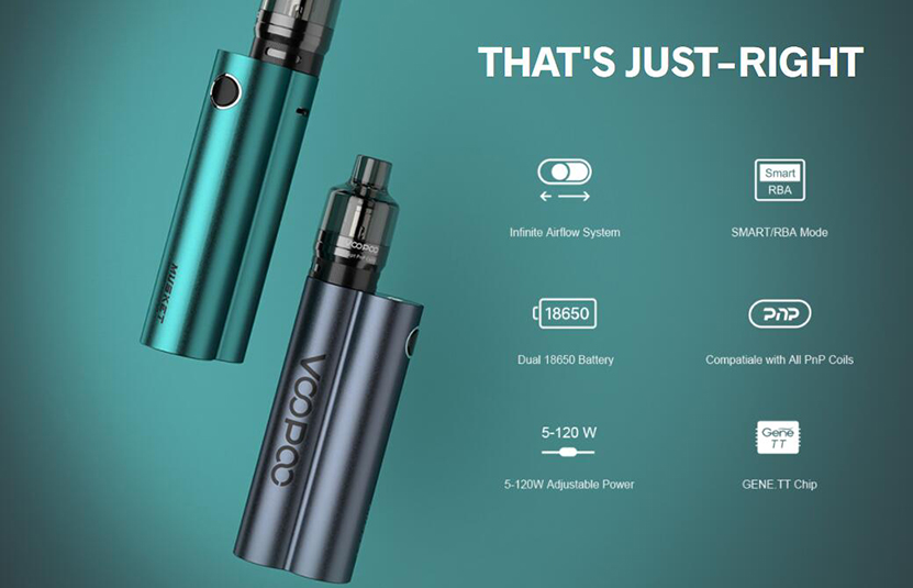 VOOPOO Musket 120W Kit Features