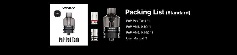 VOOPOO PnP Pod Tank Packing List