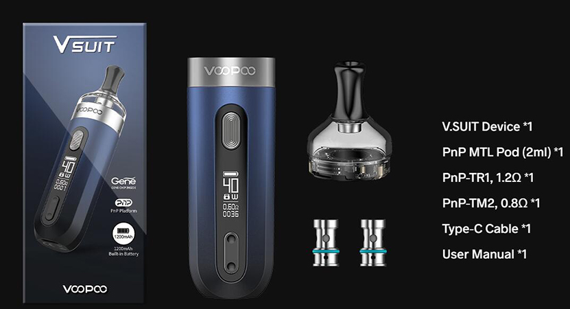 VOOPOO V.SUIT Kit Feature Package