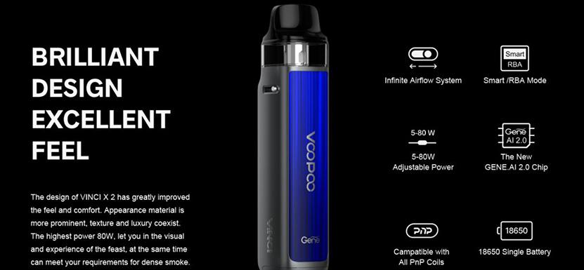 VOOPOO VINCI X 2 Kit Feature 10