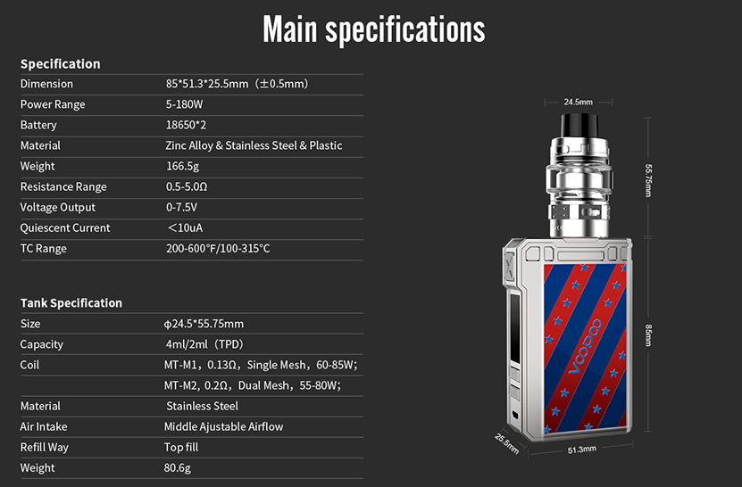 VOOPOO ALPHA Zip Vape Kit Features 9