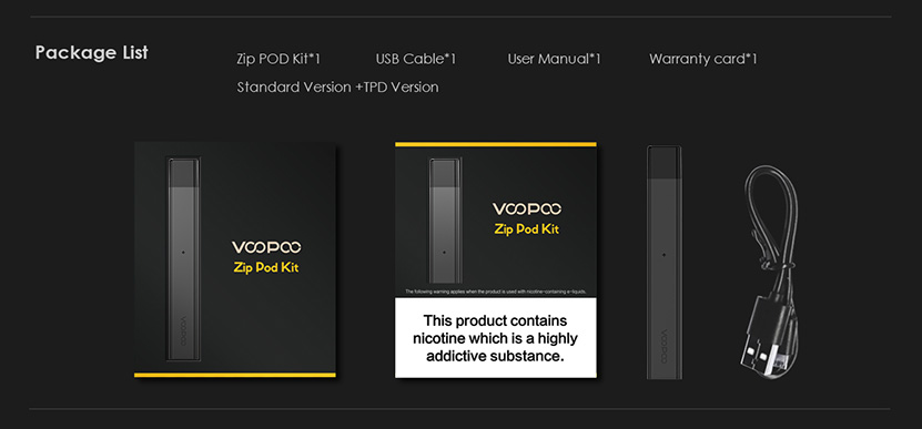 VOOPOO ALPHA Zip Pod Vape Kit Features 7