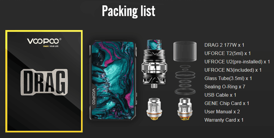 VOOPOO Drag 2 Kit Features 13
