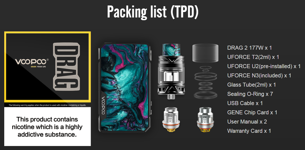 VOOPOO Drag 2 Kit TPD Features 4