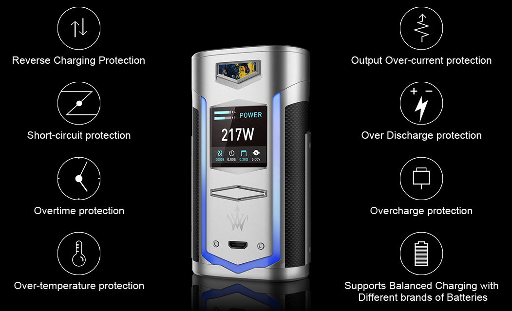 VOOPOO X217 TC Box Mod Features 07
