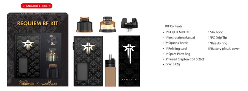 VandyVape Requiem BF Kit package