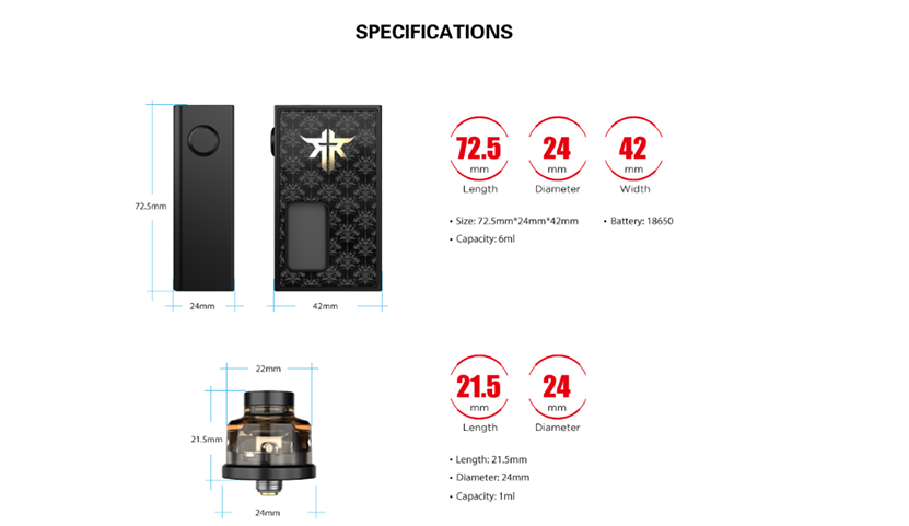 VandyVape Requiem BF Kit specification