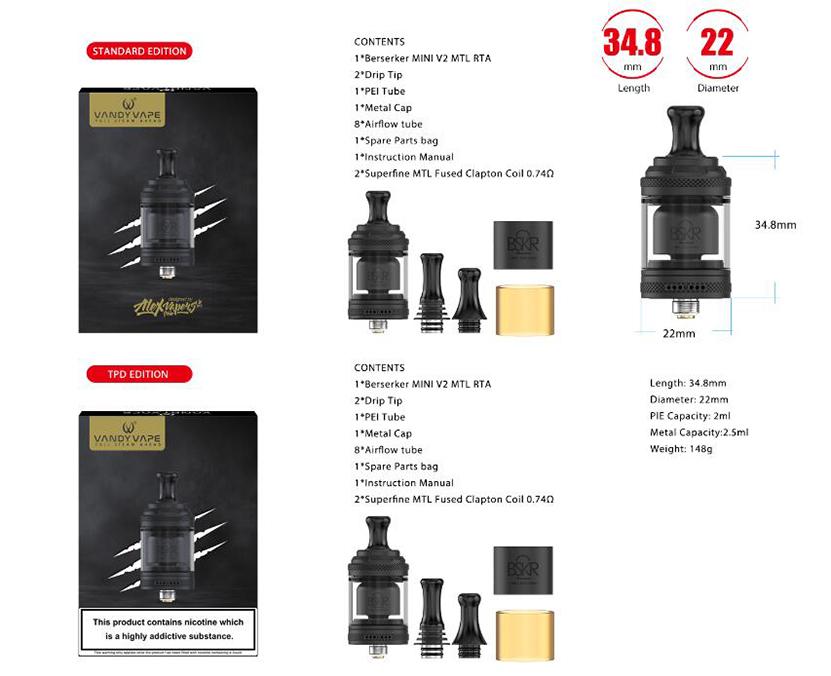 Vandy Vape BSKR Mini V2 MTL RTA Feature 7