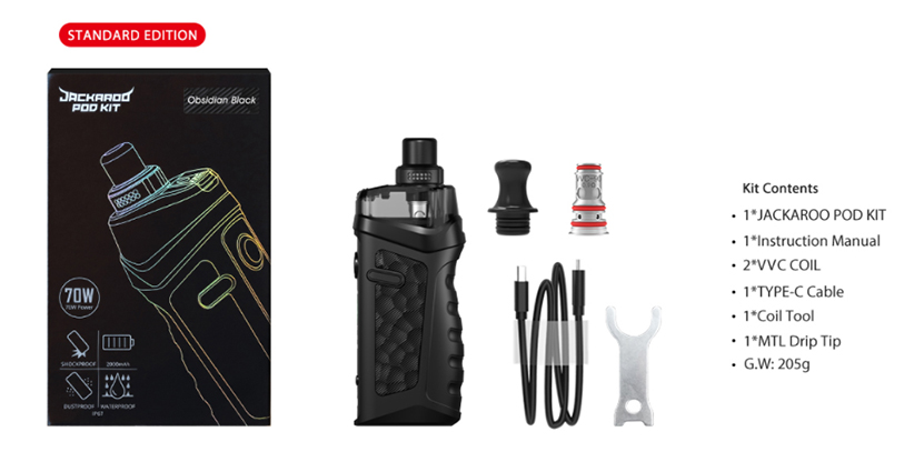 Vandy Vape Jackaroo Pod Kit package