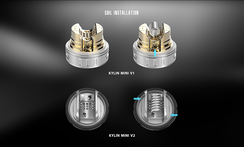 Kylin Mini V2 RTA Atomizer Coil Installation