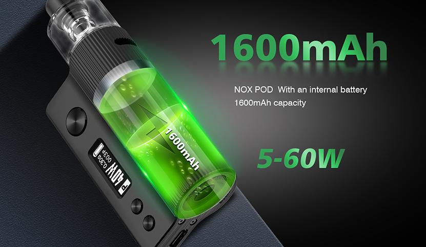 Vandy Vape Nox Pod Kit Battery Capacity