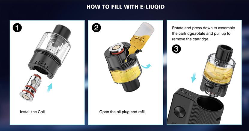 Nox Pod Kit Filling Method