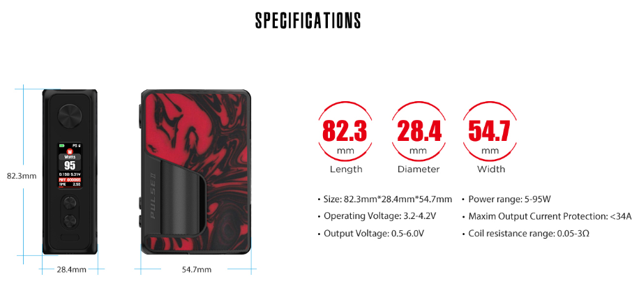 Pulse V2 BF Box Mod Specification