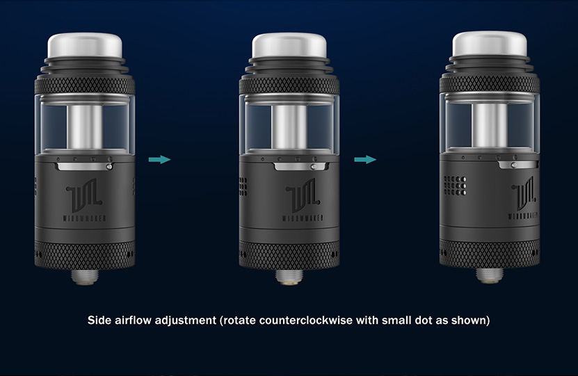 Vandy Vape Widowmaker RTA Side Airflow Adjustment