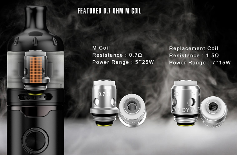 Vandy Vape Berserker S Kit Featured 0.7ohm M Coil